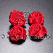Flor de Raso Roja 20mm