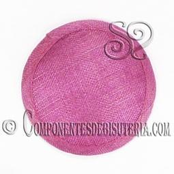 Base Sinamay para Tocados Rosa 11cm