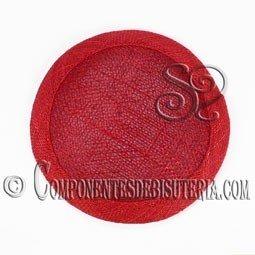Base Sinamay para Tocados Rojo 11cm