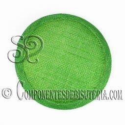 Base Sinamay para Tocados Verde 11cm