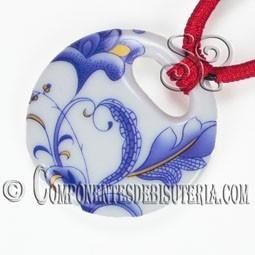 Colgante Porcelana Circular