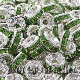 Rondel Cristal Montado Verde