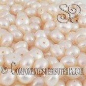 Perla de Rio Botón Blanca