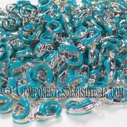 Cierre Mosquetón Plata Azul (5uds)