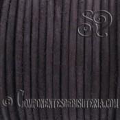 Cordón Cuero Natural Marrón Oscuro 3mm