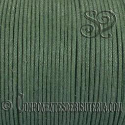 Cordon Algodon Encerado 1mm Verde