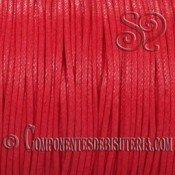 Cordon Algodon Encerado 1mm Rojo