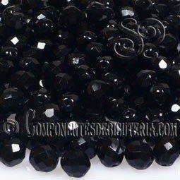 Bola Cristal Checo Negro 4mm