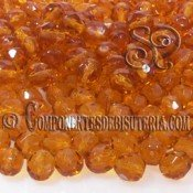 Bola Cristal Checo Ambar 4mm