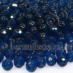 Bola Cristal Checo Dark Capri Blue 4mm