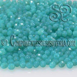 Bola Cristal Checo Caribbean Blue 4mm