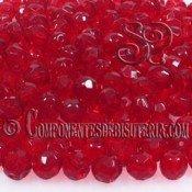 Bola Cristal Checo Siam Ruby 6mm