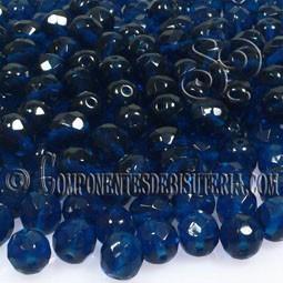 Bola Cristal Checo Dark Capri Blue 6mm