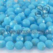 Bola Cristal Checo Azul Coral Opaco 6mm