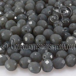 Bola Cristal Checo Gris Opaco 6mm