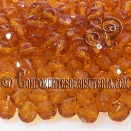 Bola Cristal Checo Amber 8mm