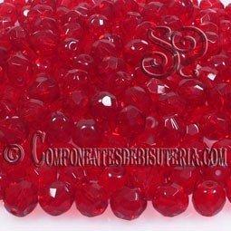 Bola Cristal Checo Siam Ruby 8mm