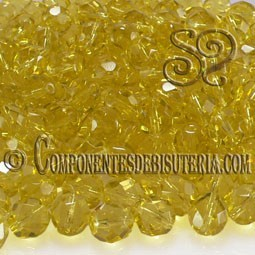 Bola Cristal Checo Amarillo 8mm