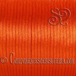 Cordón Cola de Ratón 1mm Naranja x 10 metros