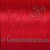 Cordón Cola de Ratón 1mm Rojo x 10 metros
