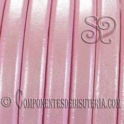 Cuero Regaliz Rosa Metalizado