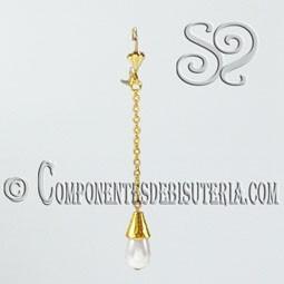 Kit de Pendientes Dorados con Perla