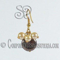 Kit de Pendientes de Pirita y Perlas