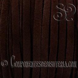 Cinta de Ante Marron Oscuro 3mm