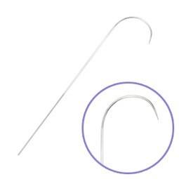 Aguja Beadalon curva ojo grande de 9cm