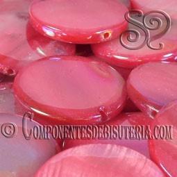 Disco de Nacar Rojo Irisado pack 10uds