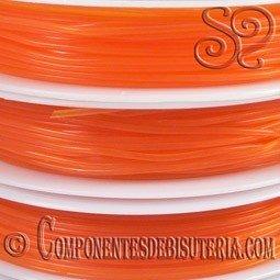 Bobina de Hilo Elastico Naranja de 0.6mm
