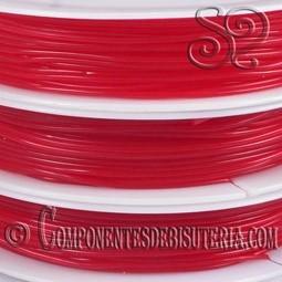 Bobina de Hilo Elastico Rojo de 0.8mm