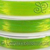 Bobina de Hilo Elastico Verde Fluor de 0.8mm