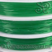 Bobina de Hilo Elastico Verde Esmeralda de 0.8mm