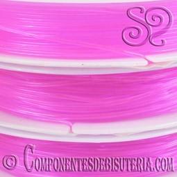 Bobina de Hilo Elastico Rosa de 0.8mm