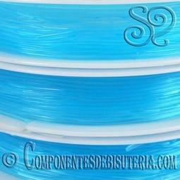 Bobina de Hilo Elastico Azul de 0.8mm