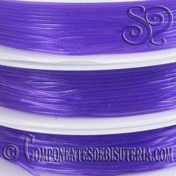 Bobina de Hilo Elastico Violeta de 0.8mm