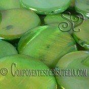 Disco de Nacar Verde Irisado pack 10uds