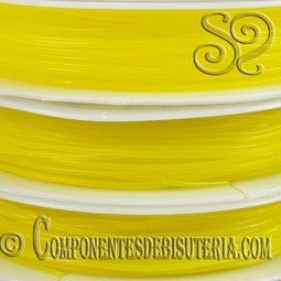 Bobina de Hilo Elastico Amarillo de 0.8mm