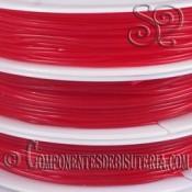 Bobina de Hilo Elastico Rojo de 1mm
