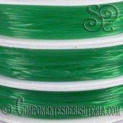 Bobina de Hilo Elastico Verde de 0.6mm