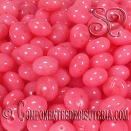 Rondel de Coral Rosa 6mm(25uds)