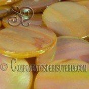 Disco de Nacar Dorado Irisado pack 10uds