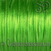 Cordon Cola de Raton 1mm Verde Neon x 10 metros