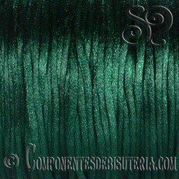 Cordon Cola de Raton 1mm Verde Oscuro