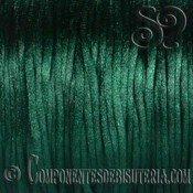 Cordon Cola de Raton 1mm Verde Oscuro x 10 metros