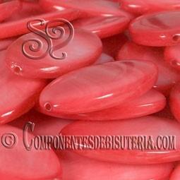 Cuenta de Nacar Rojo Coral pack 10uds