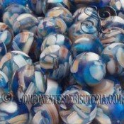Bola de Nacar y Resina Azul