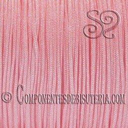 CORDON TRENZADO DE NYLON 1MM ROSA x 10M