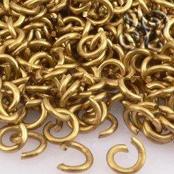 ANILLA DE METAL ABIERTA GOLDEN 5x1MM (100 uds)